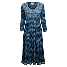 Buy East Swirl Booti Spot Dress, Indigo Online at johnlewis.com