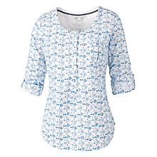 Buy Fat Face Juna Floral Broderie Popover, White Online at johnlewis.com