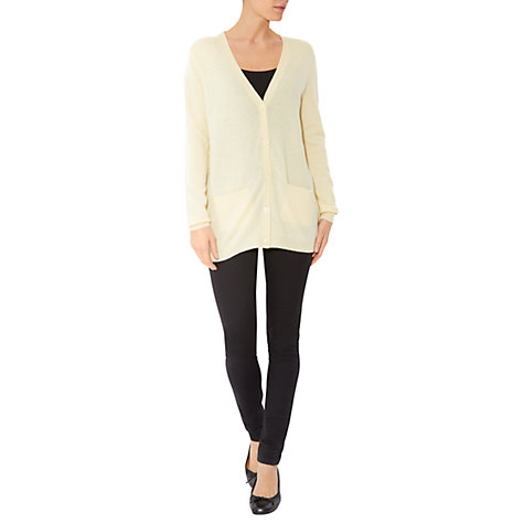 Buy Hobbs Izzy Cardigan, Lemon Grass Online at johnlewis.com