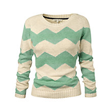 Buy Fat Face Zig Zag Jumper, Light Moss Online at johnlewis.com