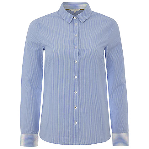 Buy White Stuff Apse Stripe Shirt, Ice Blue Online at johnlewis.com