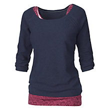 Buy Fat Face Textured Knit Jumper, Navy Online at johnlewis.com
