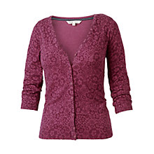 Buy Fat Face Rose Geo Floral Cardigan, Red Rouge Online at johnlewis.com