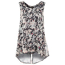 Buy Kaliko Isla Print Top, Grey Online at johnlewis.com