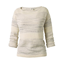 Buy Fat Face Lucky Textured Stripe Jumper, Ivory Online at johnlewis.com