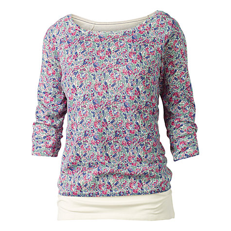 Buy Fat Face Floral Print Jumper, Ivory Online at johnlewis.com