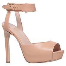 Buy KG by Kurt Geiger Hayley Leather Court Shoes, Nude Online at johnlewis.com
