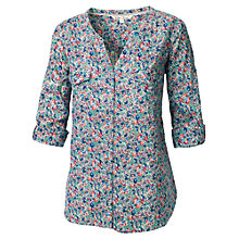 Buy Fat Face Mollie Busy Floral Popover Top, Ivory Online at johnlewis.com