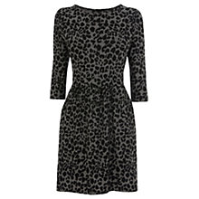 Buy Warehouse Animal Jacquard Dress, Grey Online at johnlewis.com