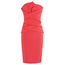 Buy Coast Petite Malia Bandeau Dress, Coral Online at johnlewis.com