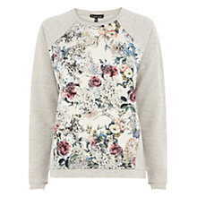 Buy Warehouse Floral Print Quilted Top, Cream Online at johnlewis.com
