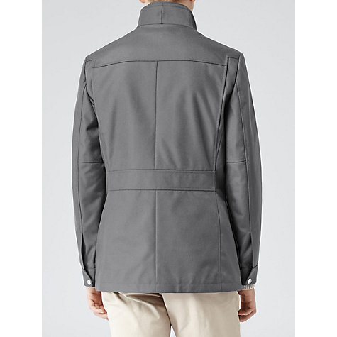 Buy Reiss Demon Technical Fabric Jacket, Grey Online at johnlewis.com