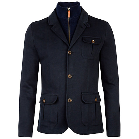 Buy Ted Baker Thatjak Zip Jacket, Navy Online at johnlewis.com