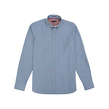 Buy Ted Baker Jenson Print Shirt, Blue Online at johnlewis.com