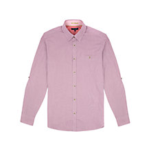 Buy Ted Baker Soft Check Shirt, Deep Pink Online at johnlewis.com