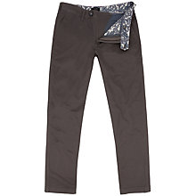 Buy Ted Baker Mordord Chino Trousers, Charcoal Online at johnlewis.com