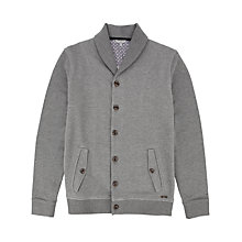 Buy Ted Baker Berden Shawl Collar Cardigan, Grey Online at johnlewis.com