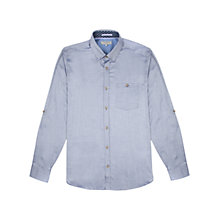 Buy Ted Baker Oxygen Oxford Shirt, Navy Online at johnlewis.com