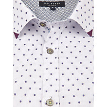 Buy Ted Baker Thebosa Stripe Spot Shirt, Purple Online at johnlewis.com