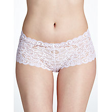 Buy Hanro Moments Lace French Knickers, White Online at johnlewis.com