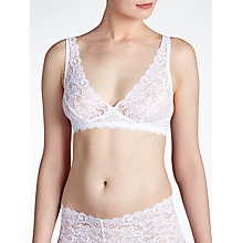 Buy Hanro Moments Soft Lace Bra, White Online at johnlewis.com