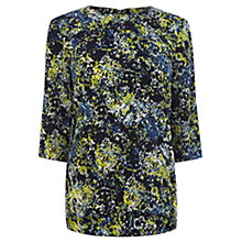Buy Warehouse Floral Elbow Sleeve Top, Multi Online at johnlewis.com