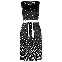 Buy Precis Petite Square Print Shift Dress, Black Online at johnlewis.com