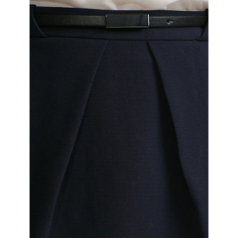 Buy Mango Pleated Skirt, Dark Blue Online at johnlewis.com