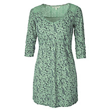 Buy Fat Face Hollywell Tunic Dress, Moss Green Online at johnlewis.com