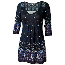 Buy Fat Face Hollywell China Border Tunic Dress, Navy Online at johnlewis.com