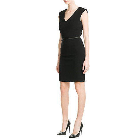 Buy Mango Padded Shoulder Dress Online at johnlewis.com