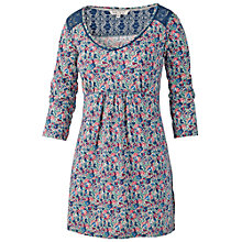 Buy Fat Face Hollywell Floral Tunic Dress, Ivory Online at johnlewis.com