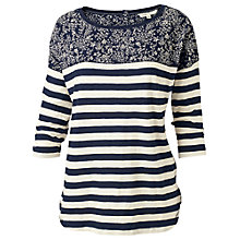 Buy Fat Face Stella Stripe T-shirt, Blue Online at johnlewis.com