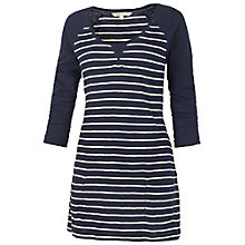 Buy Fat Face Beaulieu Stripe Tunic Dress, Navy Online at johnlewis.com