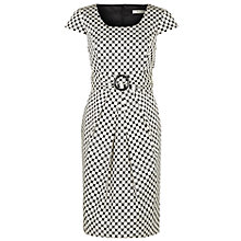Buy Precis Petite Spot Print Shift Dress, Black / White Online at johnlewis.com