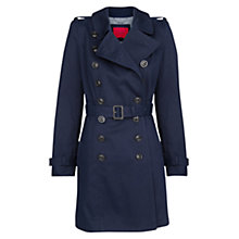 Buy Mango Classic Cotton Trench Coat, Navy Online at johnlewis.com