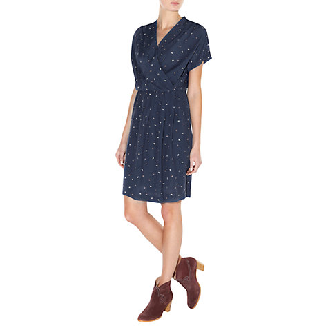 Buy NW3 by Hobbs Tiny Butterfly Dress, Chambray/Multi Online at johnlewis.com