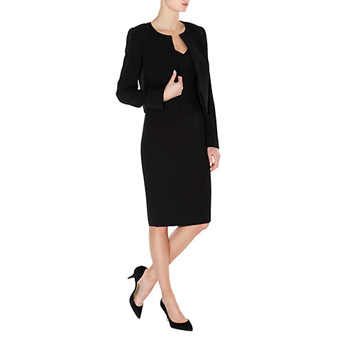 Buy Hobbs Invitation Katerina Jacket, Black Online at johnlewis.com