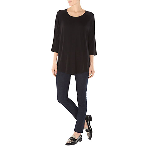 Buy Hobbs Issa Top, Black Online at johnlewis.com