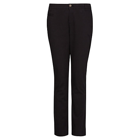 Buy Mango Cotton Chinos, Black Online at johnlewis.com