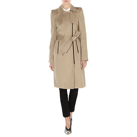 Buy Hobbs Sophia Trench Coat, Fawn Multi Online at johnlewis.com