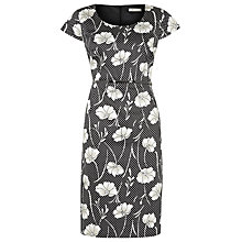Buy Precis Petite Vintage Floral Shift Dress, Black Online at johnlewis.com