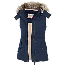Buy Fat Face Amy Gilet, Navy Online at johnlewis.com