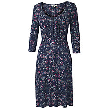 Buy Fat Face Gemma Mirror Floral Dress, Navy Online at johnlewis.com