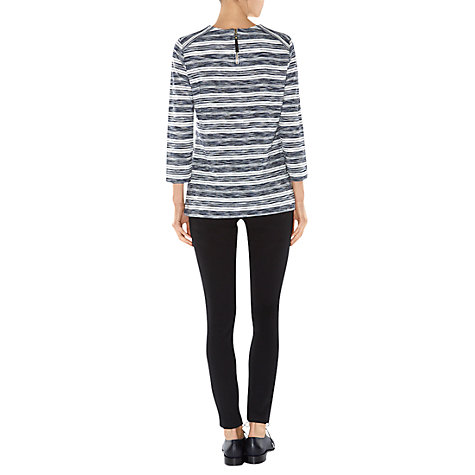 Buy Hobbs Lara Top, Navy/Ivory Online at johnlewis.com