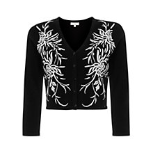 Buy Hobbs Invitation Mayflower Cardigan, Black/Ivory Online at johnlewis.com
