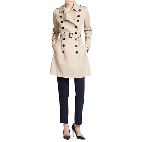 Buy Mango Classic Cotton Trench Coat, Medium Brown Online at johnlewis.com