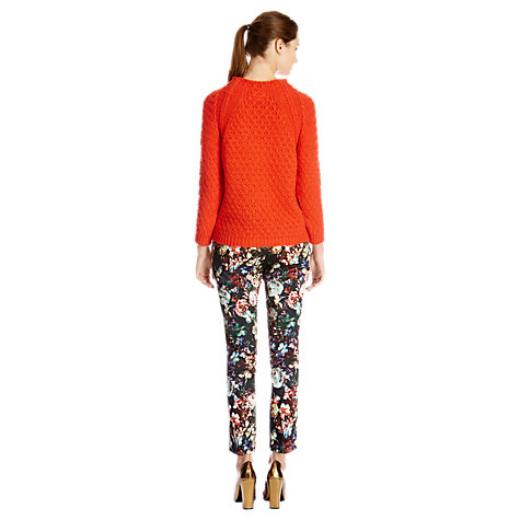 Buy Warehouse Winter Floral Print Trousers, Multi Online at johnlewis.com