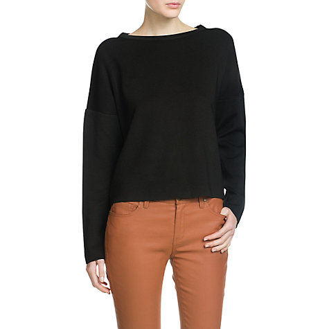 Buy Mango Knit Jumper, Black Online at johnlewis.com