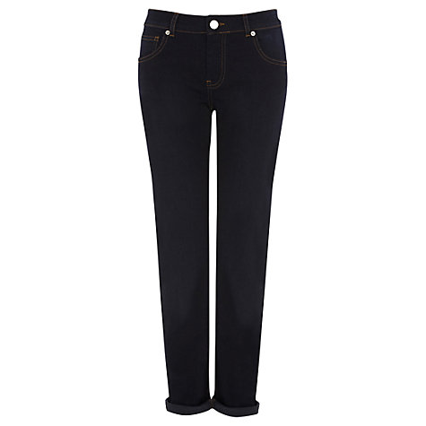 Buy Warehouse Denim Roll Straight Jeans, Indigo Online at johnlewis.com
